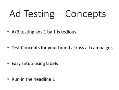 ad testing concepts
