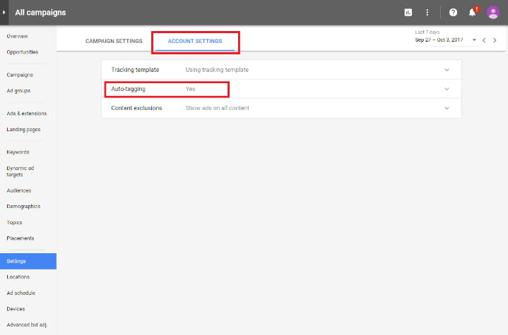 Enable Auto Tagging In New Adwords Interface